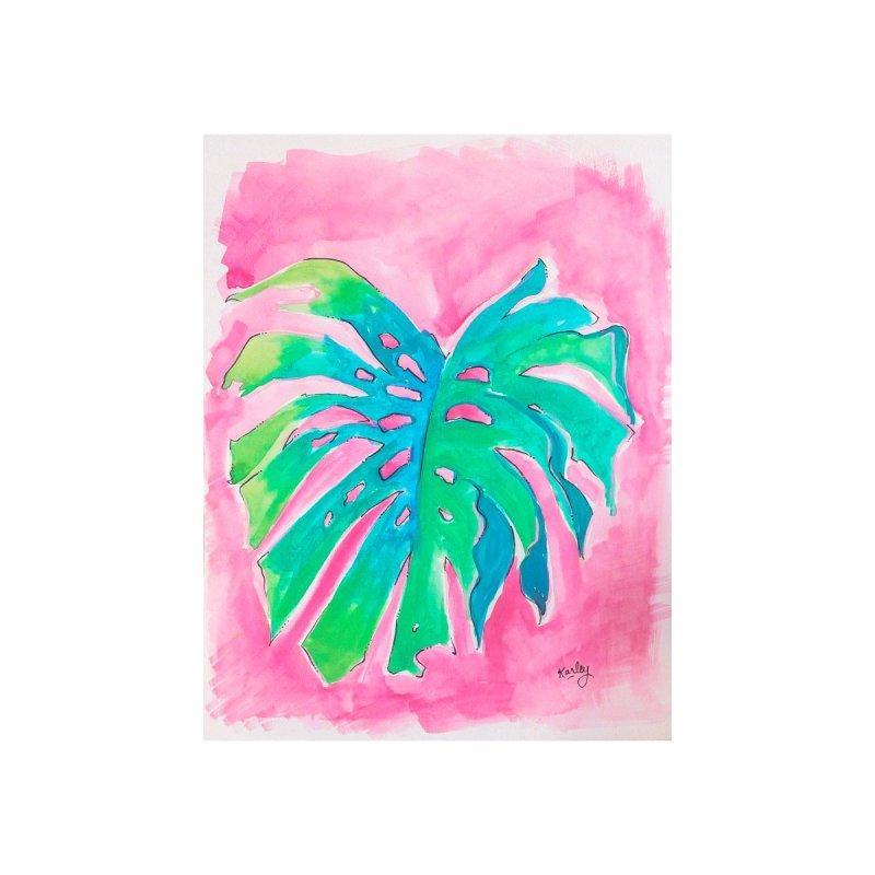 Monstera on Pink | Beach Art Home Fine Art Print by Karley Kiker's Artist Shop