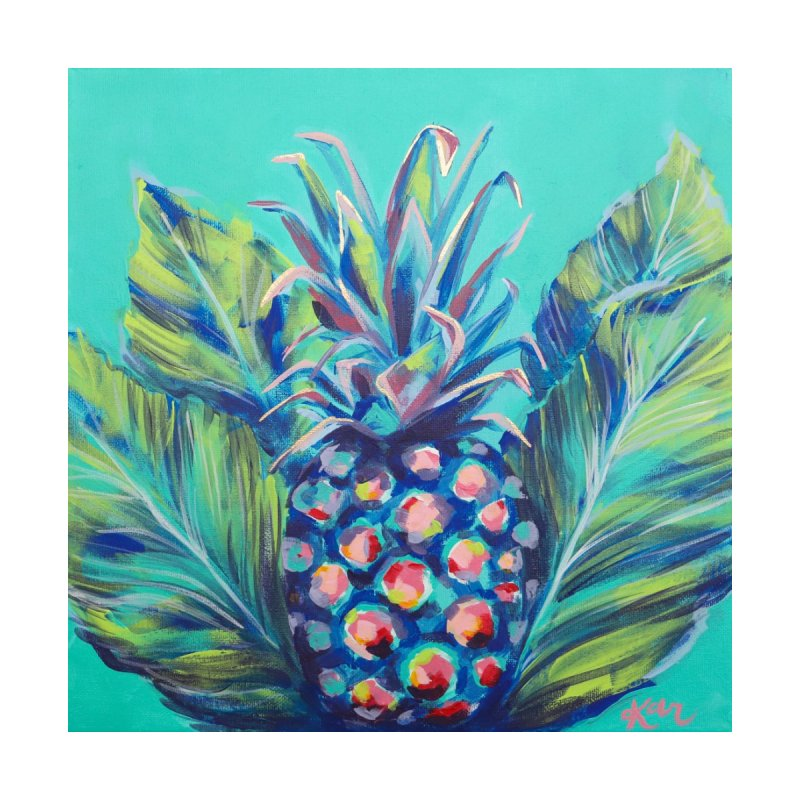 Pineapple and Palms Home Fine Art Print by Karley Kiker's Artist Shop