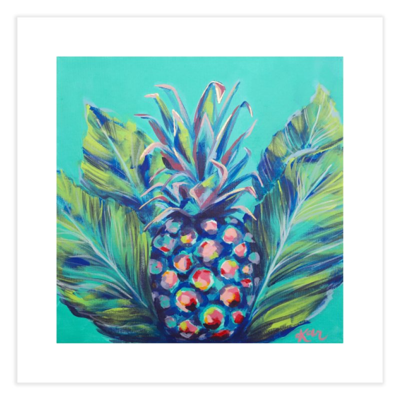 Pineapple and Palms in Fine Art Print by Karley Kiker's Artist Shop