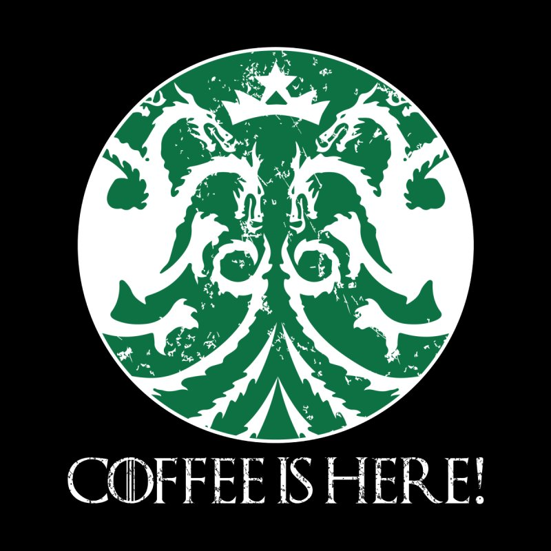 COFFEE IS HERE!!! Home Rug by karmadesigner's Tee Shirt Shop