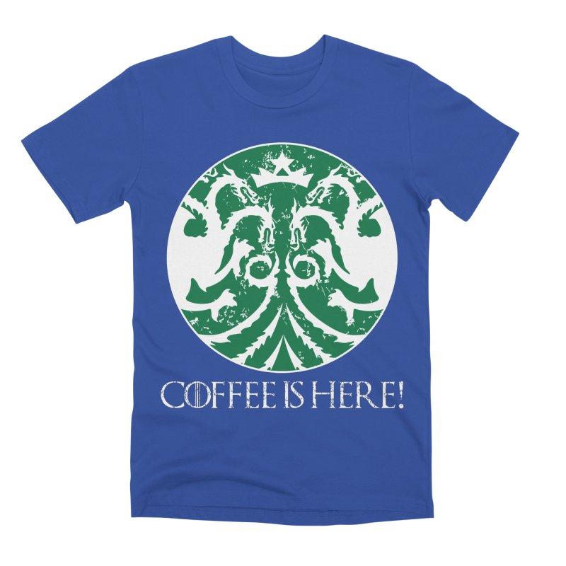 COFFEE IS HERE!!! Men's Premium T-Shirt by karmadesigner's Tee Shirt Shop