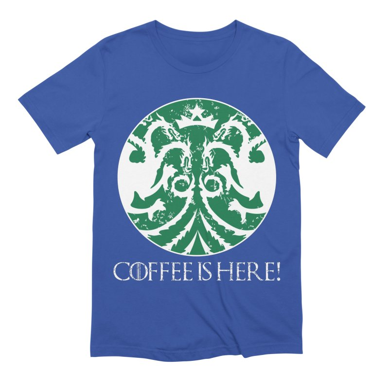 COFFEE IS HERE!!! Men's Extra Soft T-Shirt by karmadesigner's Tee Shirt Shop