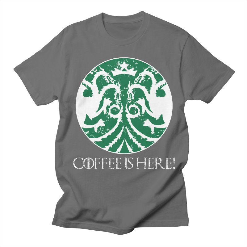 COFFEE IS HERE!!! Men's T-Shirt by karmadesigner's Tee Shirt Shop