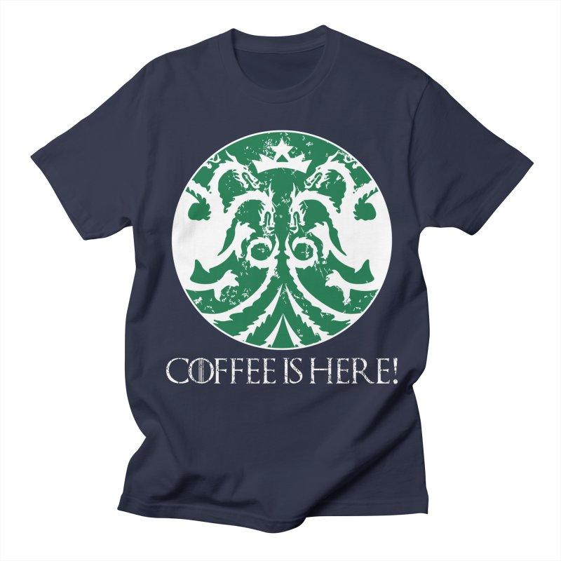 COFFEE IS HERE!!! Women's Regular Unisex T-Shirt by karmadesigner's Tee Shirt Shop