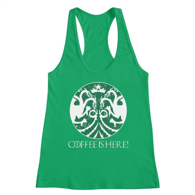 COFFEE IS HERE!!! Women's Tank by karmadesigner's Tee Shirt Shop