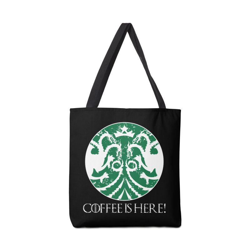 COFFEE IS HERE!!! Accessories Tote Bag Bag by karmadesigner's Tee Shirt Shop