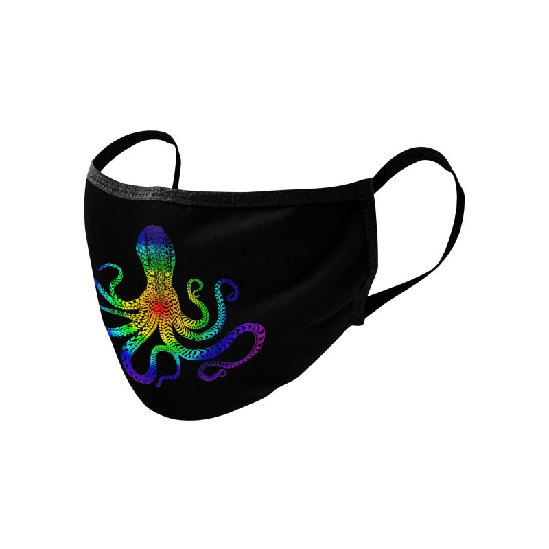 RAINBOW OCTOPUS Accessories Face Mask by karmadesigner's Tee Shirt Shop