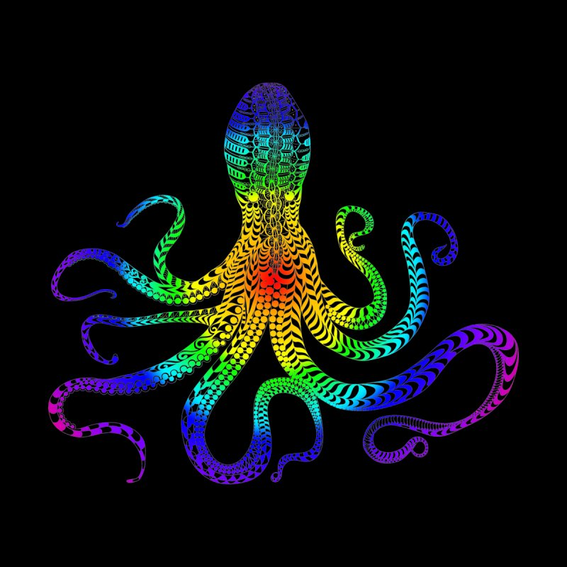 RAINBOW OCTOPUS Home Fine Art Print by karmadesigner's Tee Shirt Shop