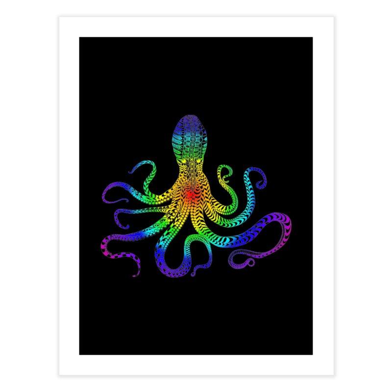 RAINBOW OCTOPUS Home Fine Art Print by karmadesigner's Tee Shirt Shop