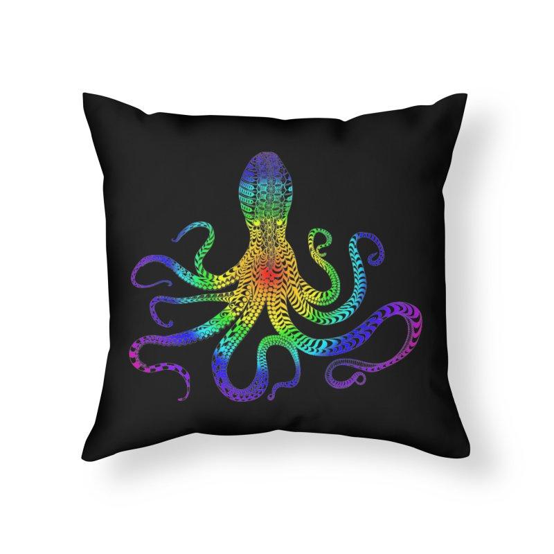 RAINBOW OCTOPUS Home Throw Pillow by karmadesigner's Tee Shirt Shop
