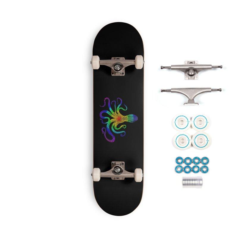 RAINBOW OCTOPUS Accessories Skateboard by karmadesigner's Tee Shirt Shop
