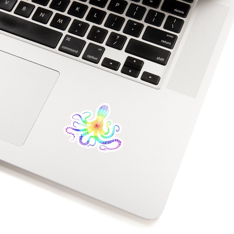 RAINBOW OCTOPUS Accessories Sticker by karmadesigner's Tee Shirt Shop