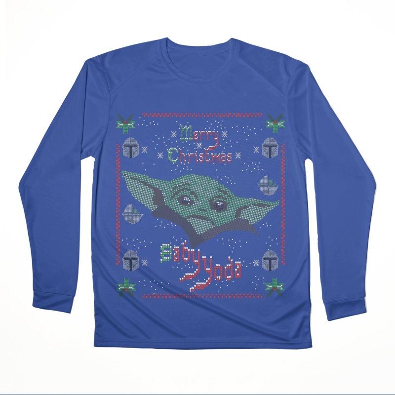 MERRY MANDALORIAN CHRISTMAS BABY YODA Women's Performance Unisex Longsleeve T-Shirt by karmadesigner's Tee Shirt Shop