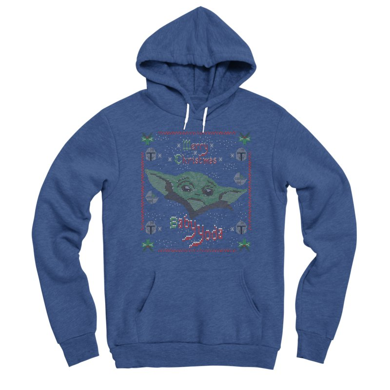 MERRY MANDALORIAN CHRISTMAS BABY YODA Men's Sponge Fleece Pullover Hoody by karmadesigner's Tee Shirt Shop