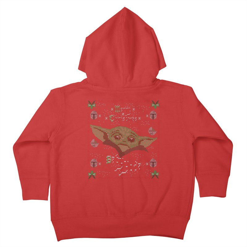 MERRY MANDALORIAN CHRISTMAS BABY YODA Kids Toddler Zip-Up Hoody by karmadesigner's Tee Shirt Shop