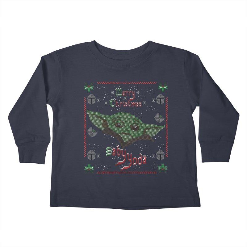MERRY MANDALORIAN CHRISTMAS BABY YODA Kids Toddler Longsleeve T-Shirt by karmadesigner's Tee Shirt Shop
