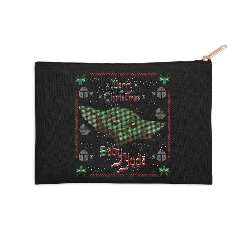 MERRY MANDALORIAN CHRISTMAS BABY YODA Accessories Zip Pouch by karmadesigner's Tee Shirt Shop