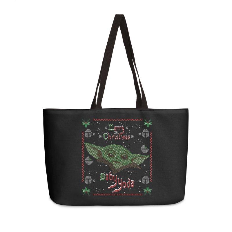 MERRY MANDALORIAN CHRISTMAS BABY YODA Accessories Bag by karmadesigner's Tee Shirt Shop