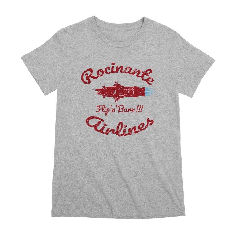 ROCINANTE AIRLINES FLIP'N'BURN! Women's Premium T-Shirt by karmadesigner's Tee Shirt Shop