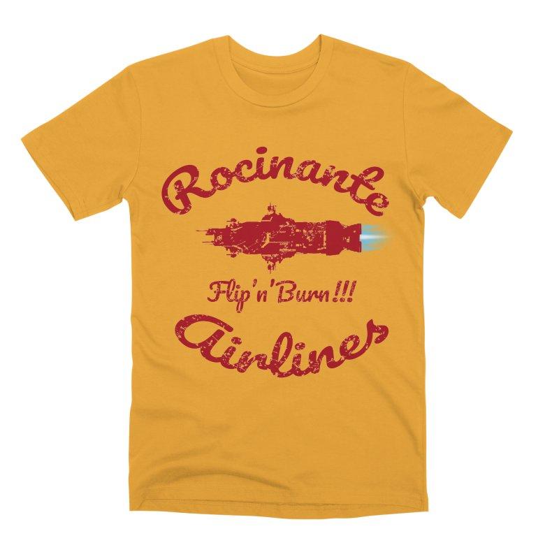 ROCINANTE AIRLINES FLIP'N'BURN! Men's Premium T-Shirt by karmadesigner's Tee Shirt Shop