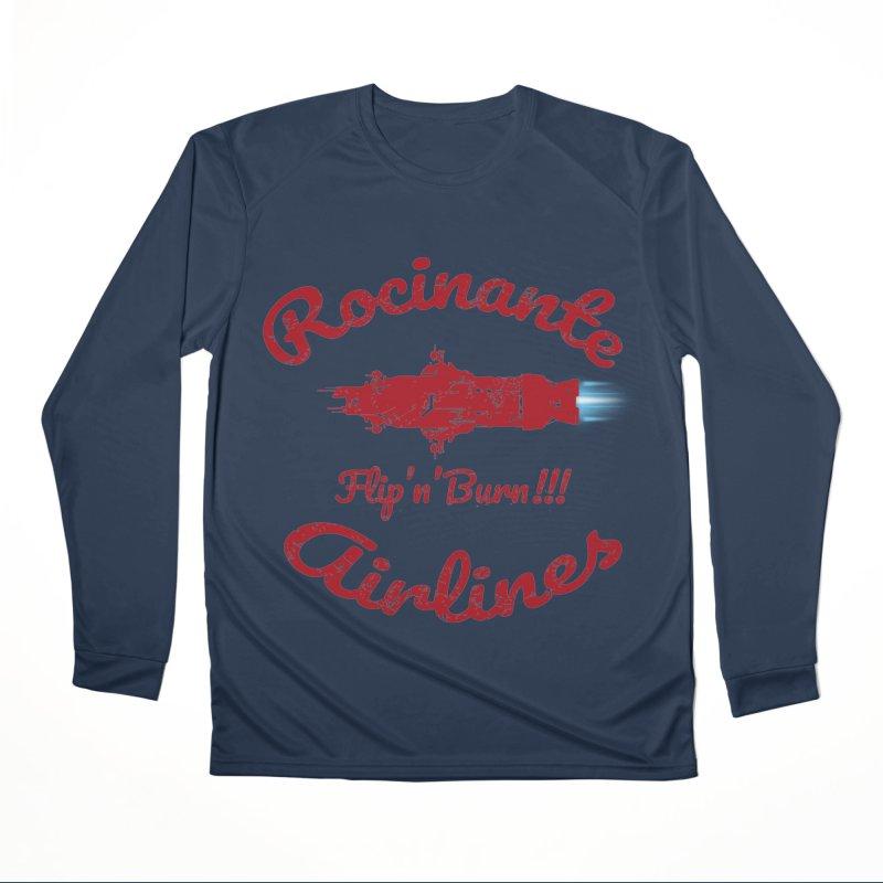 ROCINANTE AIRLINES FLIP'N'BURN! Women's Performance Unisex Longsleeve T-Shirt by karmadesigner's Tee Shirt Shop