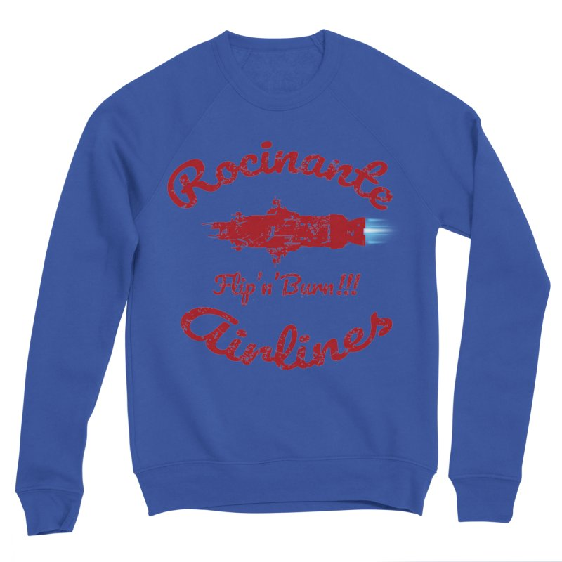 ROCINANTE AIRLINES FLIP'N'BURN! Men's Sponge Fleece Sweatshirt by karmadesigner's Tee Shirt Shop
