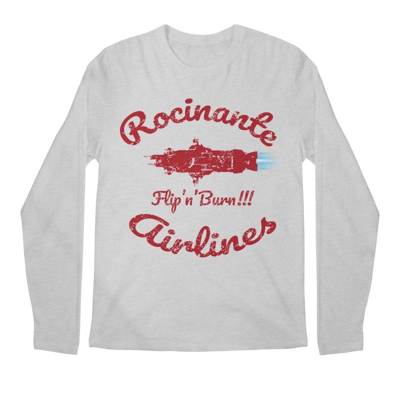 ROCINANTE AIRLINES FLIP'N'BURN! Men's Regular Longsleeve T-Shirt by karmadesigner's Tee Shirt Shop