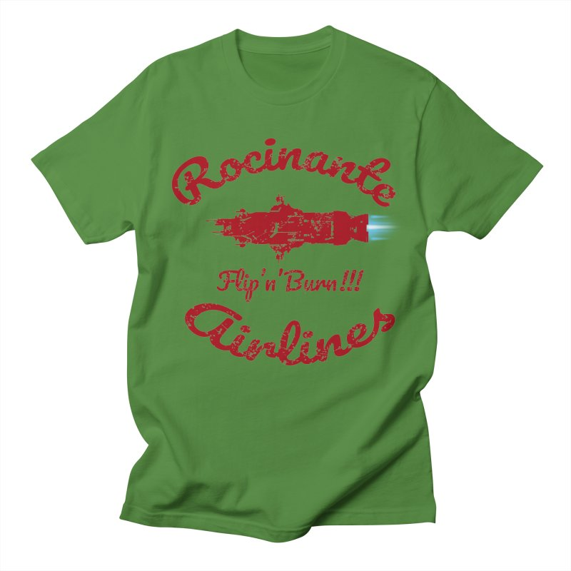ROCINANTE AIRLINES FLIP'N'BURN! Men's Regular T-Shirt by karmadesigner's Tee Shirt Shop