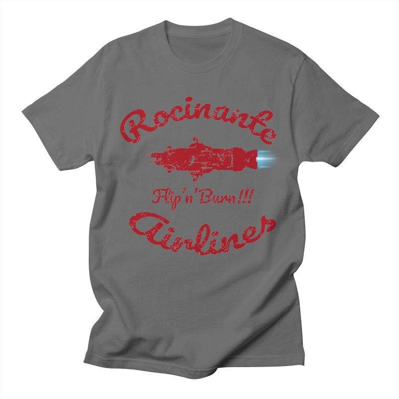 ROCINANTE AIRLINES FLIP'N'BURN! Men's T-Shirt by karmadesigner's Tee Shirt Shop