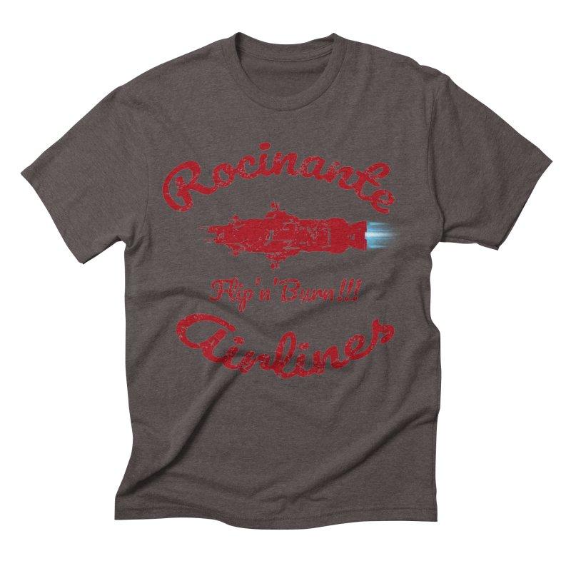 ROCINANTE AIRLINES FLIP'N'BURN! Men's Triblend T-Shirt by karmadesigner's Tee Shirt Shop