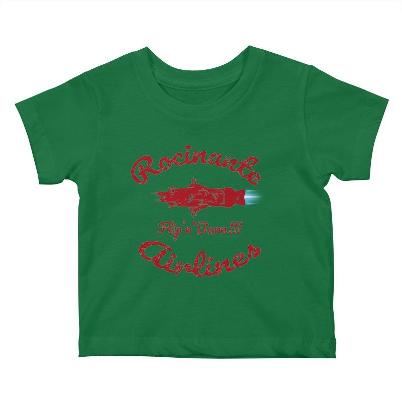 ROCINANTE AIRLINES FLIP'N'BURN! Kids Baby T-Shirt by karmadesigner's Tee Shirt Shop