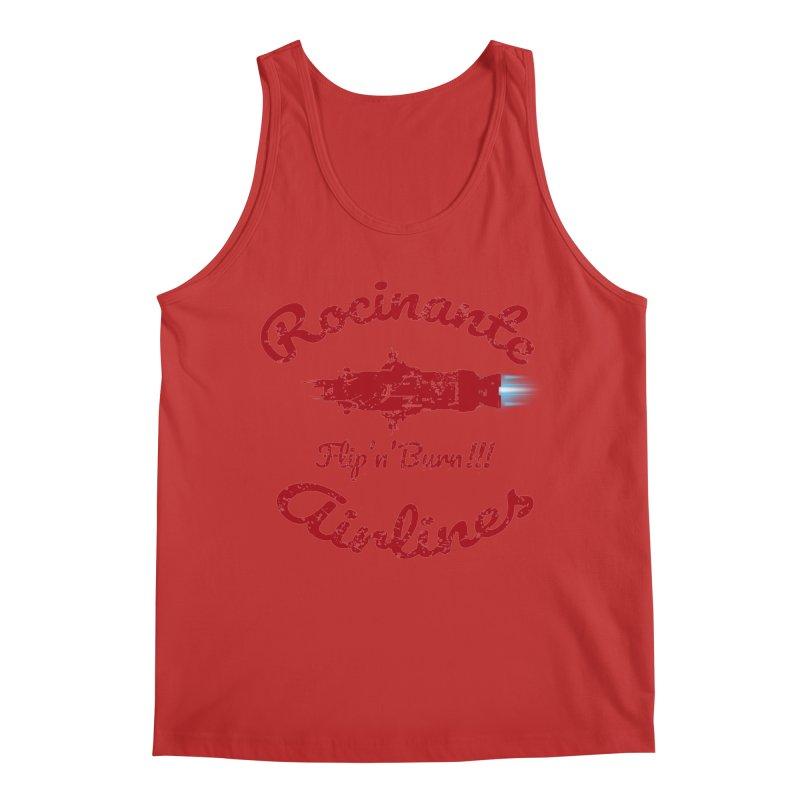ROCINANTE AIRLINES FLIP'N'BURN! Men's Regular Tank by karmadesigner's Tee Shirt Shop