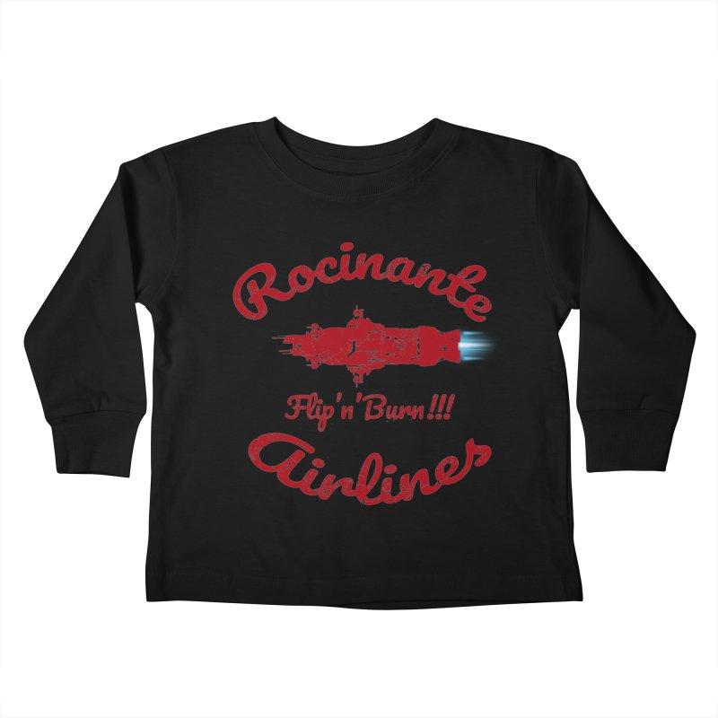ROCINANTE AIRLINES FLIP'N'BURN! Kids Toddler Longsleeve T-Shirt by karmadesigner's Tee Shirt Shop