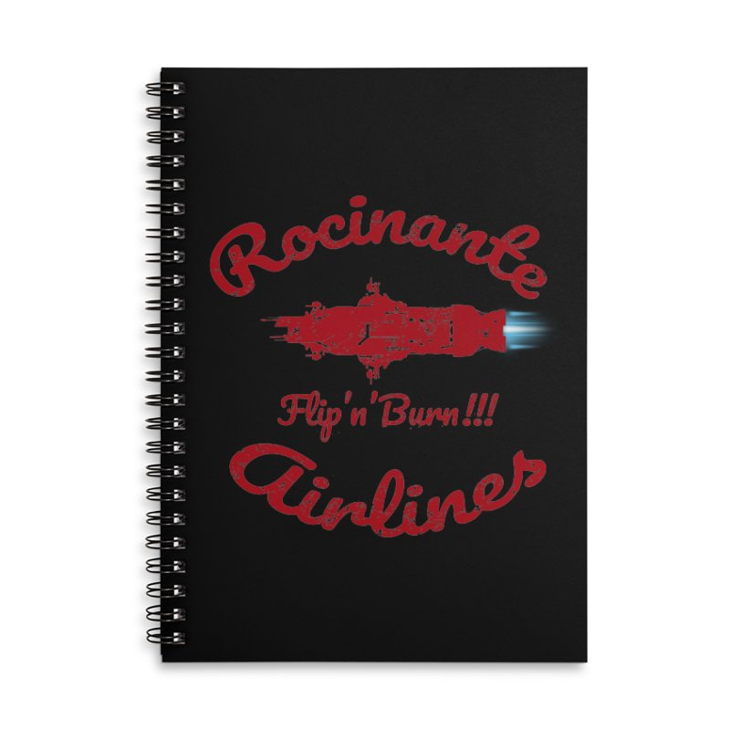 ROCINANTE AIRLINES FLIP'N'BURN! Accessories Lined Spiral Notebook by karmadesigner's Tee Shirt Shop