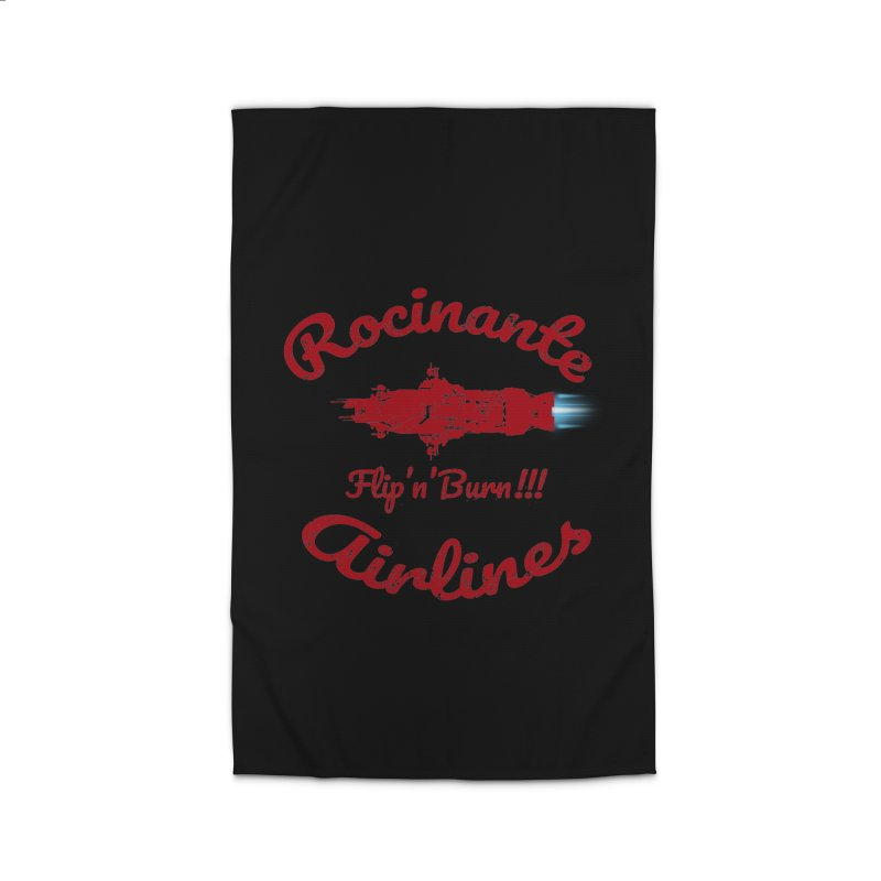 ROCINANTE AIRLINES FLIP'N'BURN! Home Rug by karmadesigner's Tee Shirt Shop