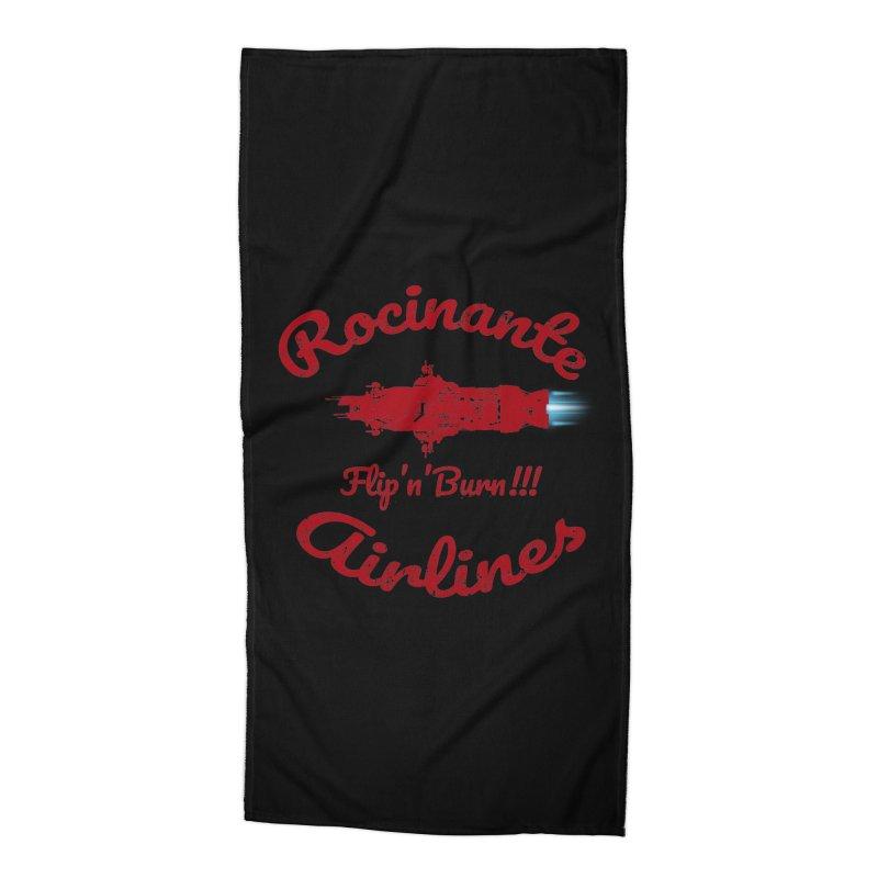 ROCINANTE AIRLINES FLIP'N'BURN! Accessories Beach Towel by karmadesigner's Tee Shirt Shop