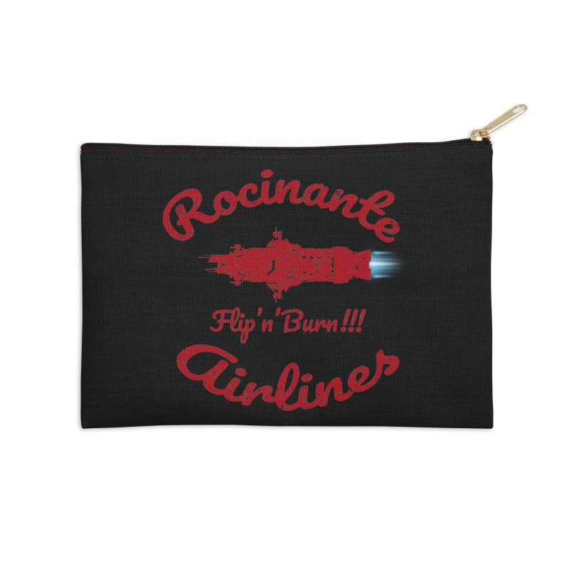 ROCINANTE AIRLINES FLIP'N'BURN! Accessories Zip Pouch by karmadesigner's Tee Shirt Shop