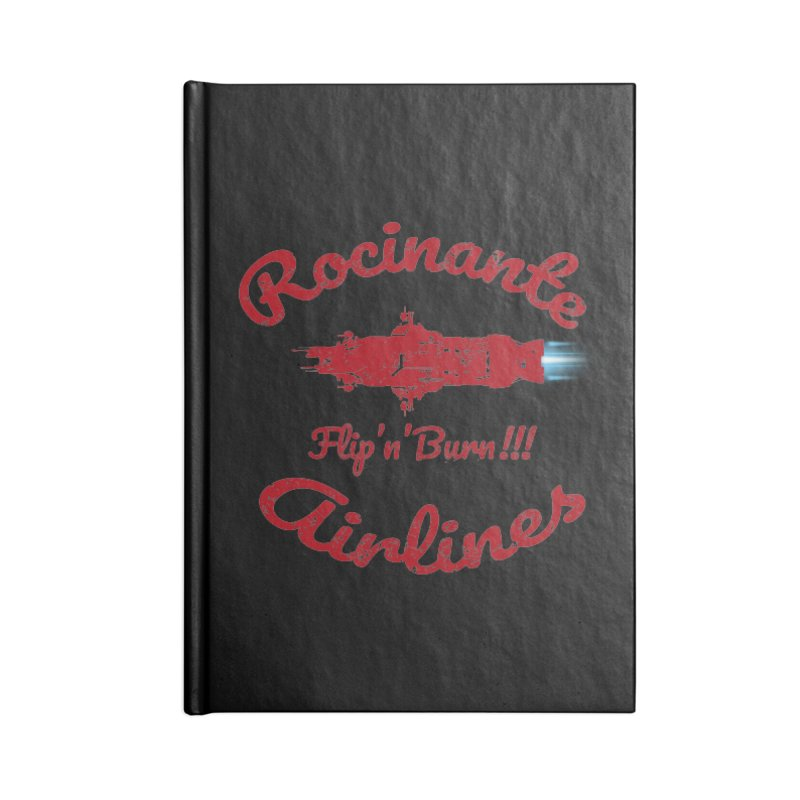 ROCINANTE AIRLINES FLIP'N'BURN! Accessories Lined Journal Notebook by karmadesigner's Tee Shirt Shop