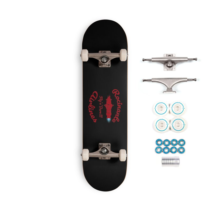 ROCINANTE AIRLINES FLIP'N'BURN! Accessories Skateboard by karmadesigner's Tee Shirt Shop