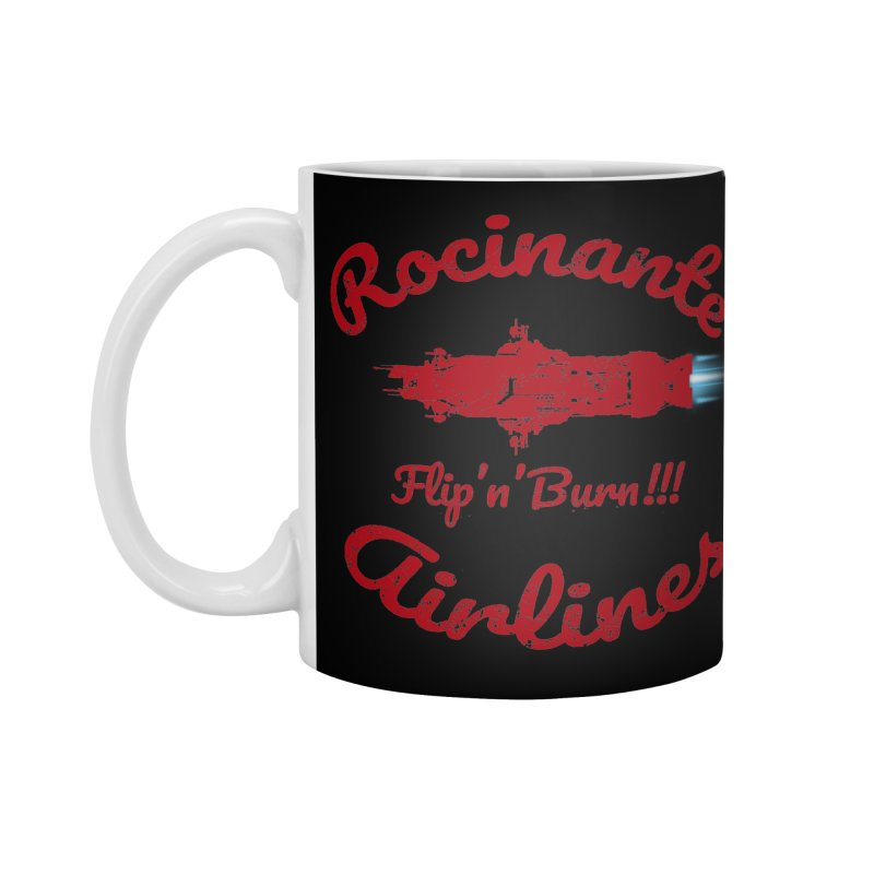ROCINANTE AIRLINES FLIP'N'BURN! Accessories Standard Mug by karmadesigner's Tee Shirt Shop