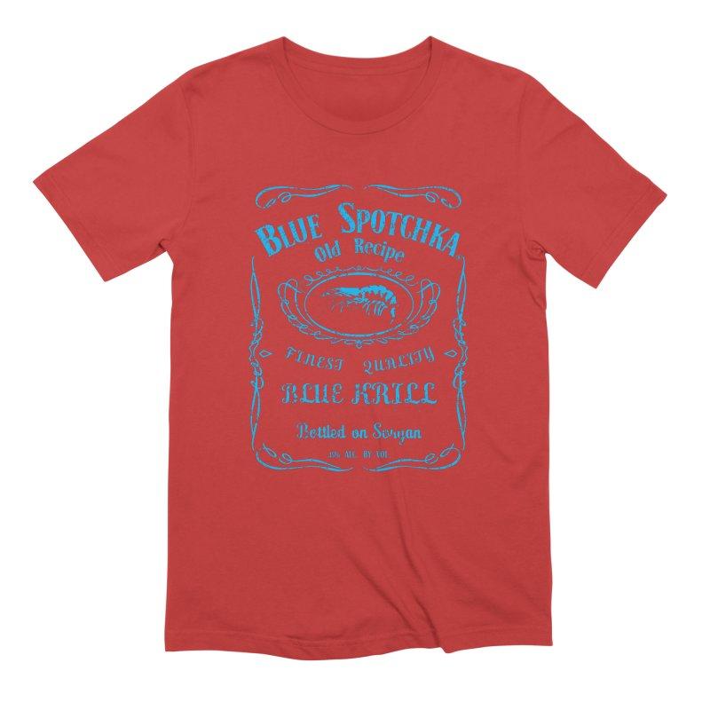 BLUE SPOTCHKA Men's Extra Soft T-Shirt by karmadesigner's Tee Shirt Shop