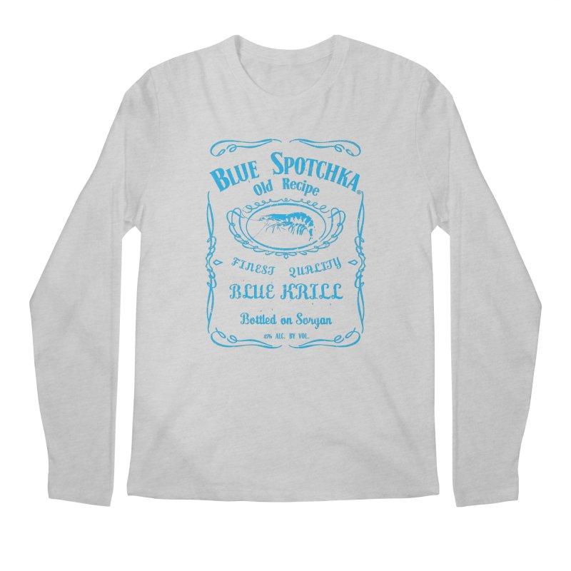 BLUE SPOTCHKA Men's Regular Longsleeve T-Shirt by karmadesigner's Tee Shirt Shop