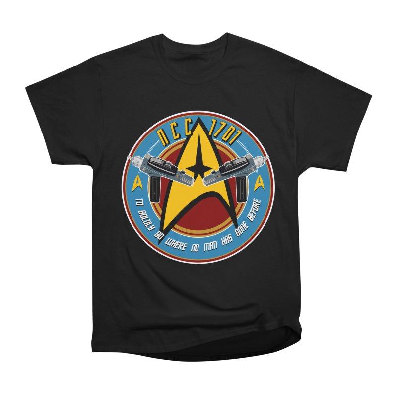BOLDLY GO... Women's Heavyweight Unisex T-Shirt by karmadesigner's Tee Shirt Shop