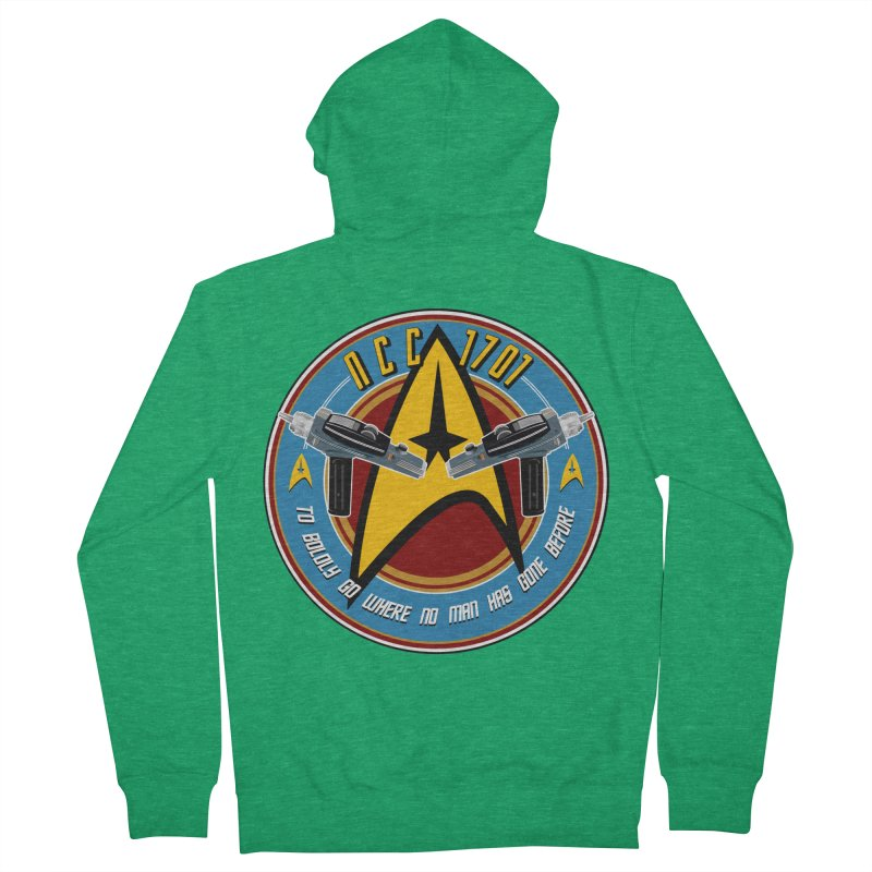 BOLDLY GO... Women's Zip-Up Hoody by karmadesigner's Tee Shirt Shop