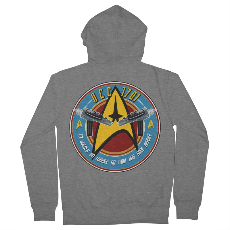 BOLDLY GO... Women's French Terry Zip-Up Hoody by karmadesigner's Tee Shirt Shop