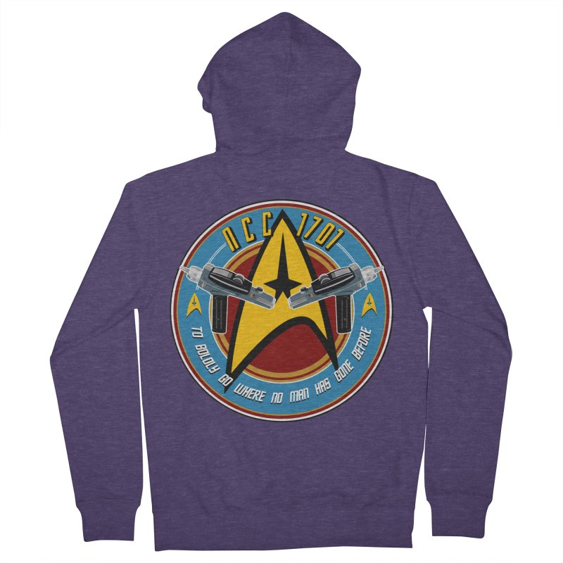 BOLDLY GO... Men's French Terry Zip-Up Hoody by karmadesigner's Tee Shirt Shop