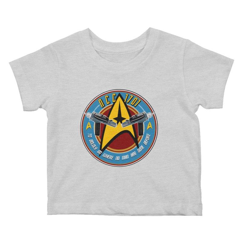 BOLDLY GO... Kids Baby T-Shirt by karmadesigner's Tee Shirt Shop