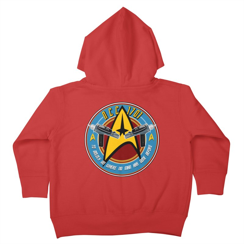 BOLDLY GO... Kids Toddler Zip-Up Hoody by karmadesigner's Tee Shirt Shop