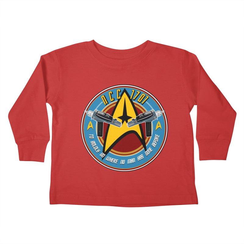BOLDLY GO... Kids Toddler Longsleeve T-Shirt by karmadesigner's Tee Shirt Shop
