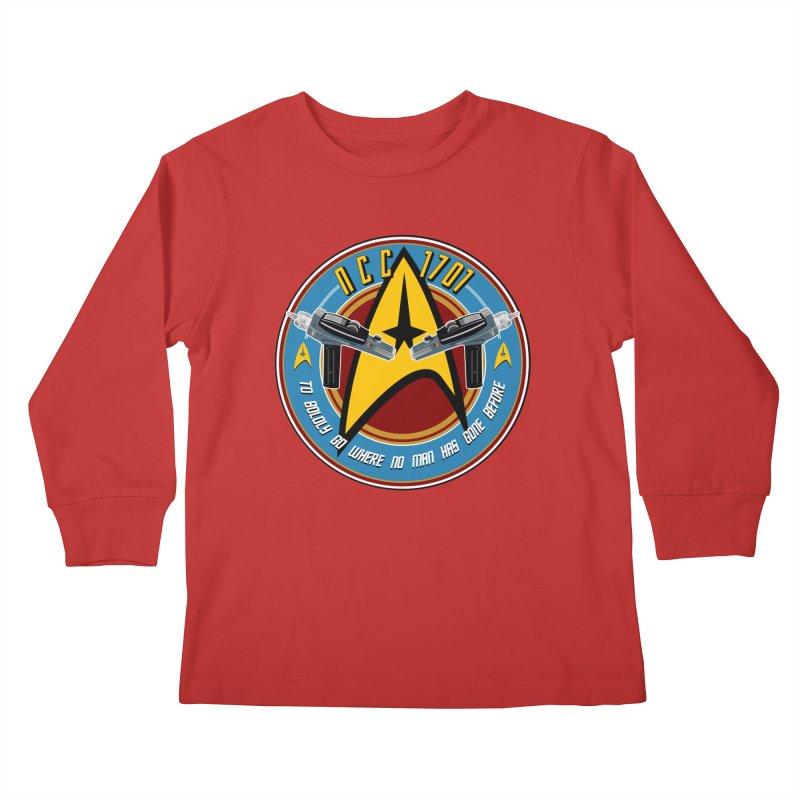 BOLDLY GO... Kids Longsleeve T-Shirt by karmadesigner's Tee Shirt Shop